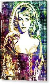 Acrylic Print featuring the mixed media Michele Mercier by Svelby Art