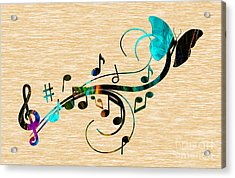 Music Flows Collection Acrylic Print by Marvin Blaine
