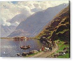 Norwegian Fjord Landscape Acrylic Print