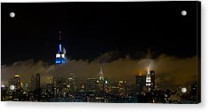Nyc Buildings Acrylic Print by Patrick  Flynn
