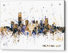 Acrylic Print featuring the digital art Oklahoma City Skyline by Michael Tompsett