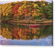 Autumn Reflection  Acrylic Print by JAMART Photography