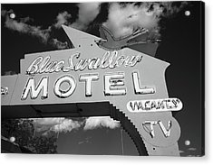 Route 66 - Blue Swallow Motel Acrylic Print by Frank Romeo