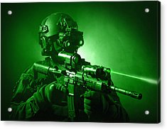 Special Operations Forces Soldier Acrylic Print by Tom Weber