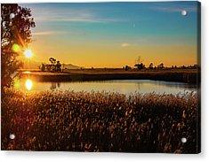 Sunrise In The Ditch Burlamacca Acrylic Print