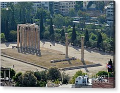 Temple Of Olympian Zeus Acrylic Print