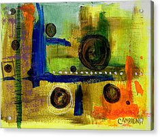 Acrylic Print featuring the mixed media Untitled by Teddy Campagna