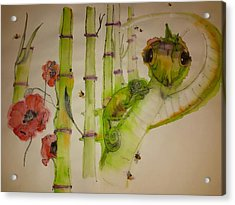 Walking Through  Garden Of Plenty Album    Acrylic Print by Debbi Saccomanno Chan
