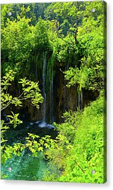 Waterfall In Plitvice National Park In Croatia Acrylic Print