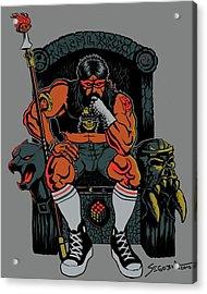 80's King Acrylic Print by Martin Segobia