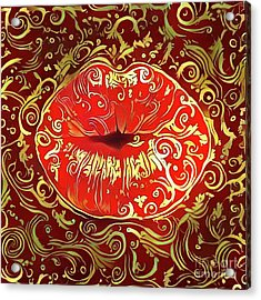 Kissing Lips Acrylic Print