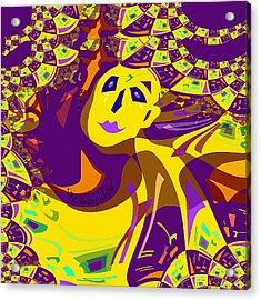 874 - Mellow Yellow Clown Lady - 2017 Acrylic Print