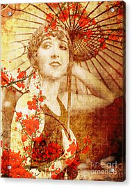 Winsome Woman Acrylic Print by Chris Andruskiewicz