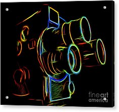8mm In Neon Acrylic Print by Mark Miller