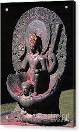 8th Century Vishnu - Changu Narayan Temple Nepal Acrylic Print