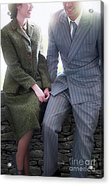 Acrylic Print featuring the photograph 1940s Couple by Lee Avison