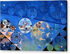 Abstract Painting - Lapis Lazuli Acrylic Print by Vitaliy Gladkiy