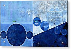 Abstract Painting - Sapphire Acrylic Print by Vitaliy Gladkiy