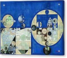 Abstract Painting - Yale Blue Acrylic Print by Vitaliy Gladkiy
