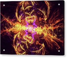 #art #digitalart #fractals Acrylic Print by Michal Dunaj