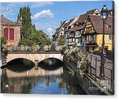 Canals Of Colmar Acrylic Print by Yefim Bam