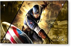 Captain America Collection Acrylic Print by Marvin Blaine