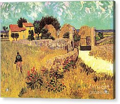 Farmhouse In Provence Acrylic Print by Vincent Van Gogh