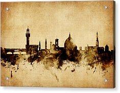 Florence Italy Skyline Acrylic Print