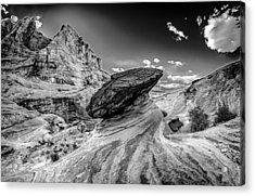 Hoodoos At Stud Horse Point In Arizona Acrylic Print by Alex Grichenko