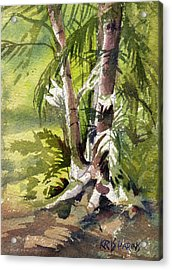 Acrylic Print featuring the painting It's A Jungle Out There by Kris Parins