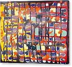 Jugglery Of Colors Acrylic Print by Baljit Chadha