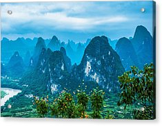 Karst Mountains Landscape Acrylic Print