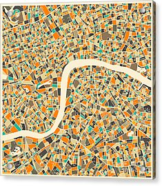 London Map Acrylic Print by Jazzberry Blue