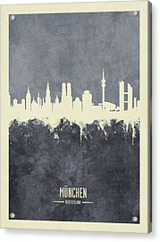 Munich Germany Skyline Acrylic Print