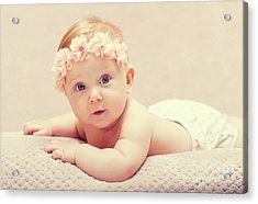 Acrylic Print featuring the photograph Newborn Fine Portrait by Gualtiero Boffi