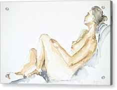 Nude Series Acrylic Print by Eugenia Picado