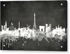 Paris France Skyline Acrylic Print