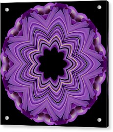 9 Petaled Design Acrylic Print by Baha'i Writings As Art