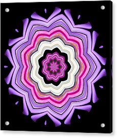9-petaled Violet Acrylic Print by Baha'i Writings As Art