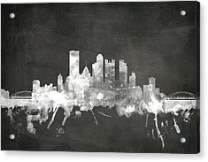 Pittsburgh Pennsylvania Skyline Acrylic Print by Michael Tompsett