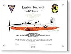 Raytheon Beechcraft T-6b Texan II Acrylic Print by Arthur Eggers