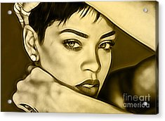 Rihanna Collection Acrylic Print by Marvin Blaine