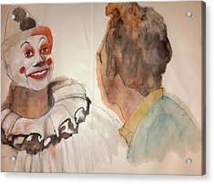 Seinfeld Comedy In Cars Album And Corden Comedy Acrylic Print by Debbi Saccomanno Chan