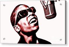 Stevie Wonder Collection Acrylic Print by Marvin Blaine