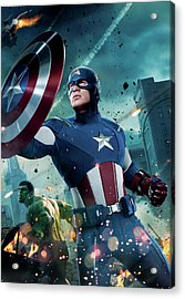 The Avengers 2012 Acrylic Print by Unknown
