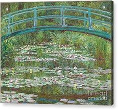 The Japanese Footbridge Acrylic Print by Claude Monet