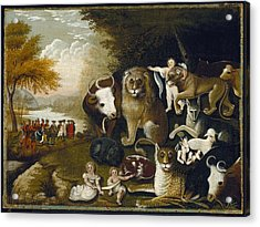 The Peaceable Kingdom Acrylic Print by MotionAge Designs