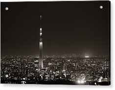 Acrylic Print featuring the photograph Tokyo Rooftop by Songquan Deng