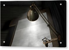 Vintage Desk And Lamp  Acrylic Print by Allan Swart