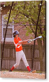 Youth Baseball Match Acrylic Print